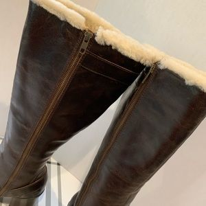 Born Shoes - Born Brown Fur Lined Boots